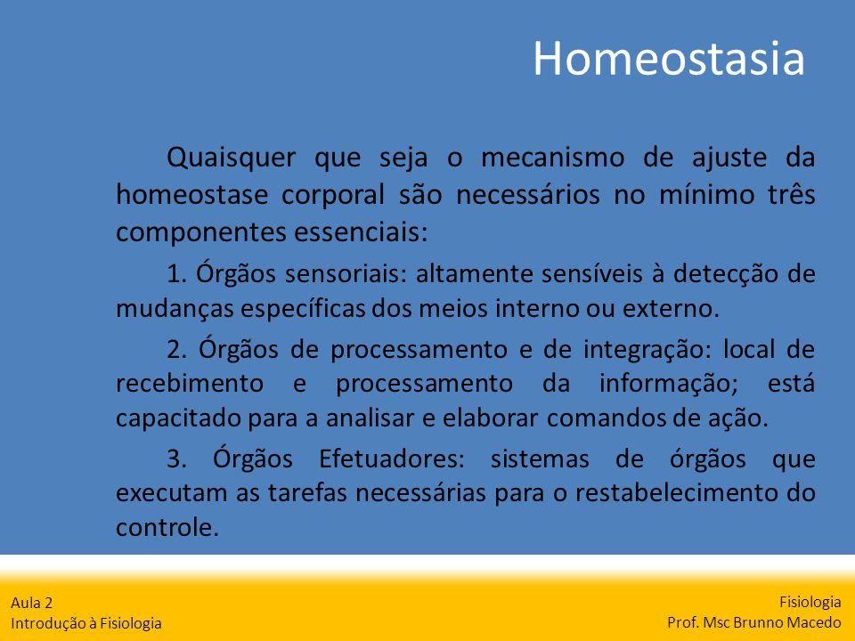 Fisiologia Prof. Msc Brunno Macedo