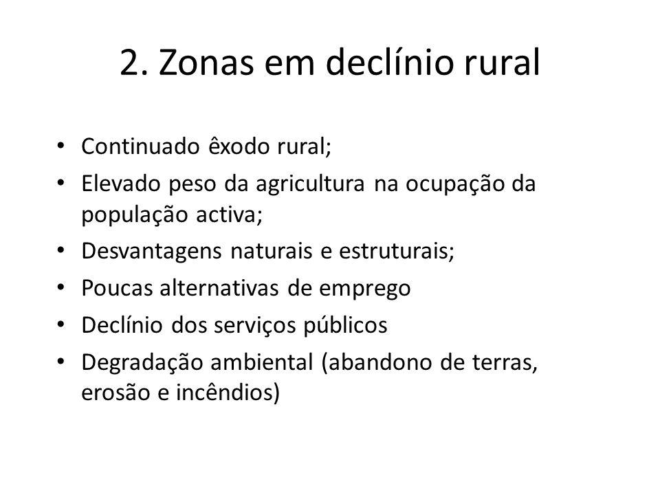 2. Zonas em declínio rural