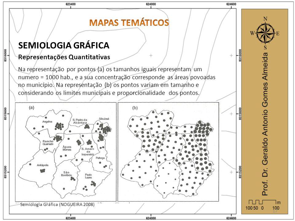MAPAS TEMÁTICOS SEMIOLOGIA GRÁFICA Representações Quantitativas