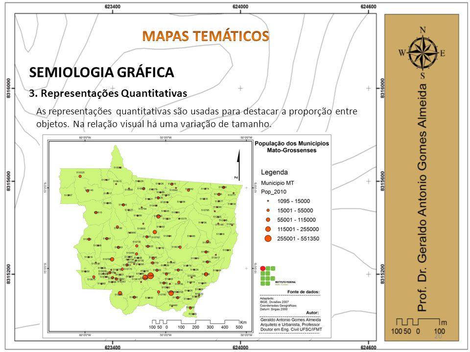 MAPAS TEMÁTICOS SEMIOLOGIA GRÁFICA 3. Representações Quantitativas