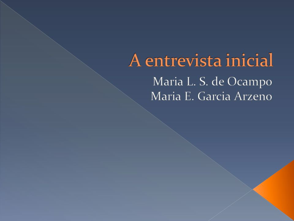 Maria L. S. de Ocampo Maria E. Garcia Arzeno