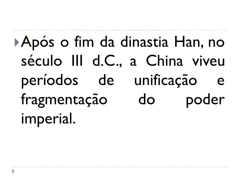 Após o fim da dinastia Han, no século III d. C