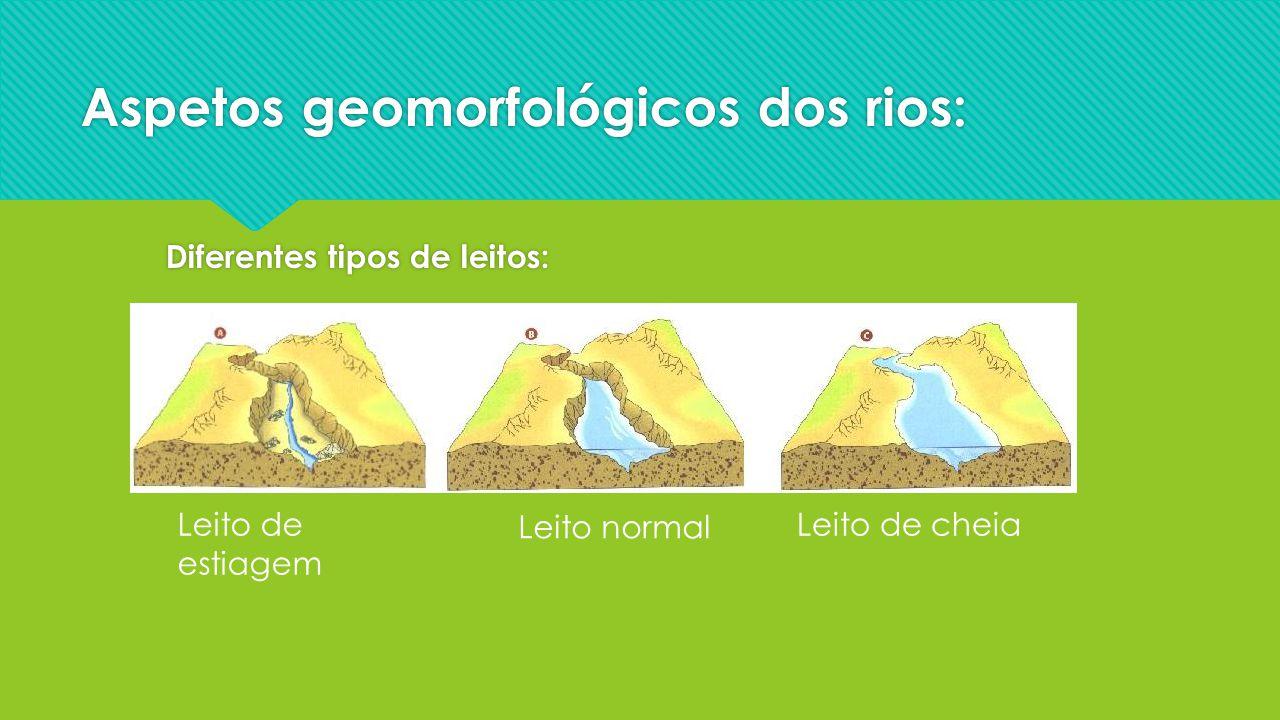 Aspetos geomorfológicos dos rios:
