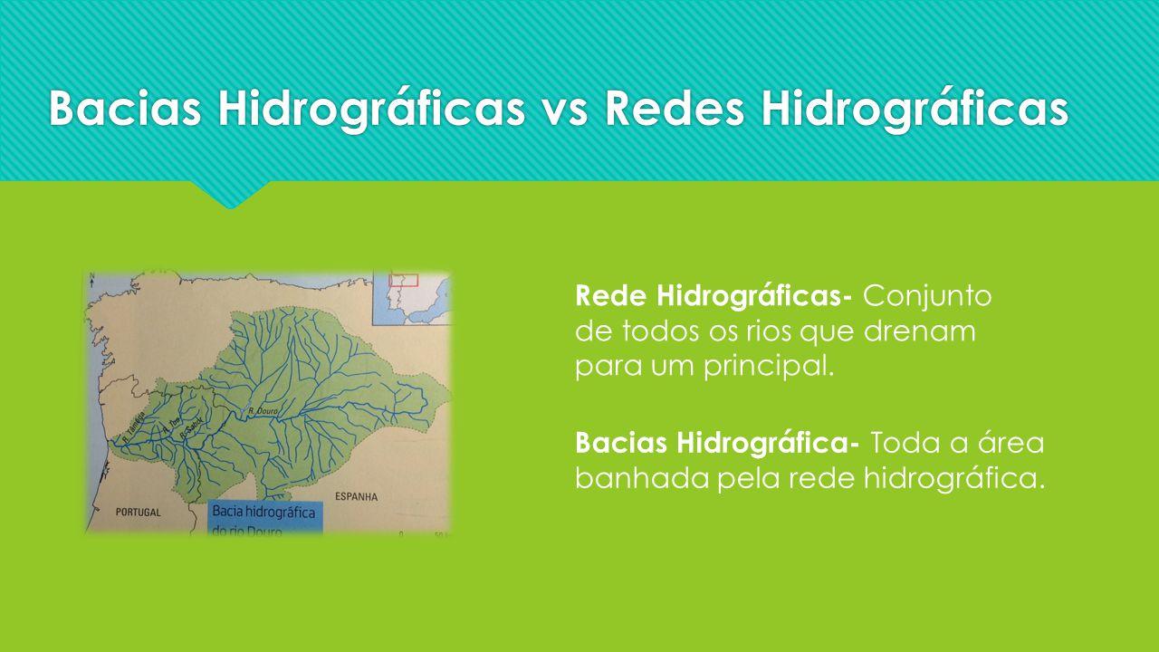 Bacias Hidrográficas vs Redes Hidrográficas