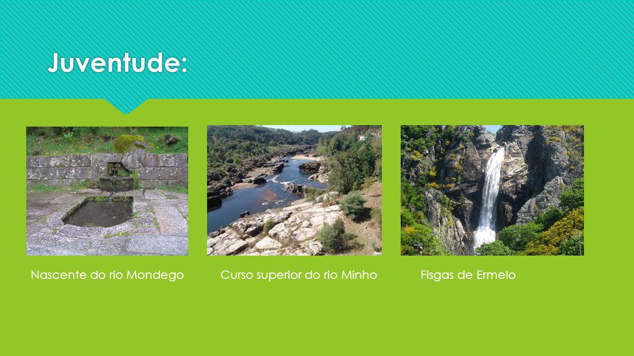 Juventude: Nascente do rio Mondego Curso superior do rio Minho