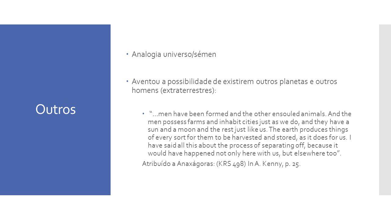 Outros Analogia universo/sémen