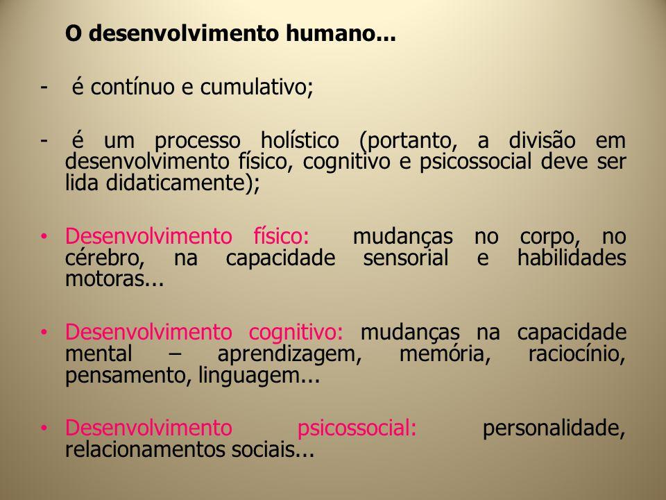 O desenvolvimento humano...