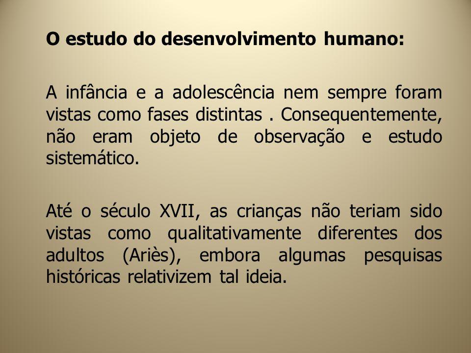 O estudo do desenvolvimento humano: