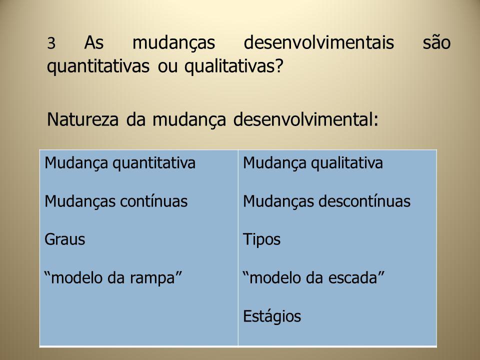 3 As mudanças desenvolvimentais são quantitativas ou qualitativas