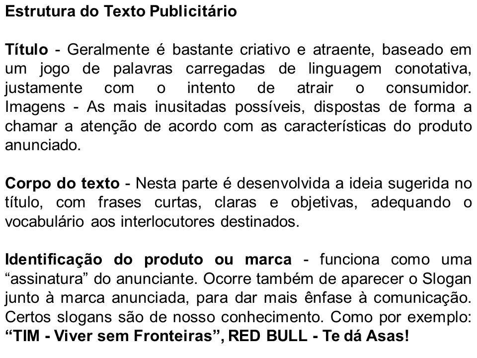 Estrutura do Texto Publicitário