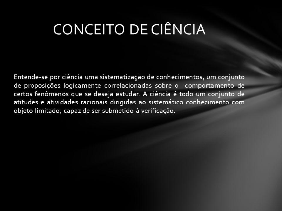 CONCEITO DE CIÊNCIA