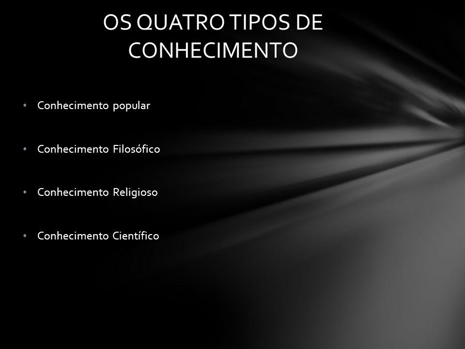 OS QUATRO TIPOS DE CONHECIMENTO