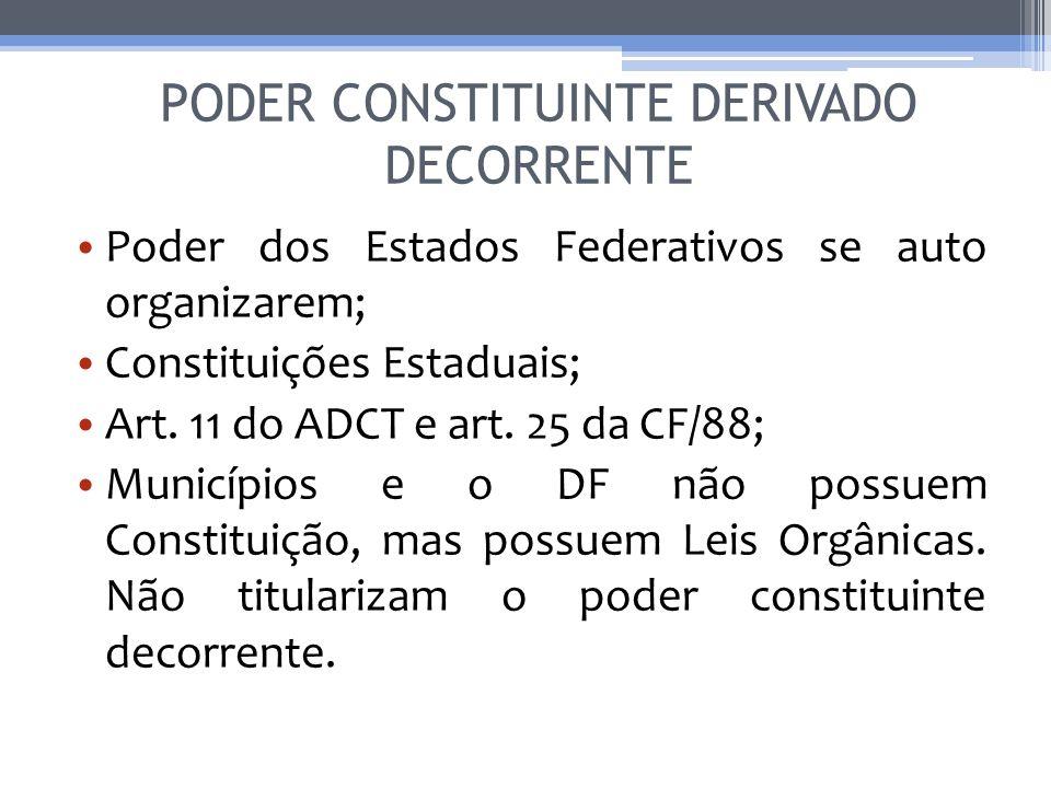 PODER CONSTITUINTE DERIVADO DECORRENTE