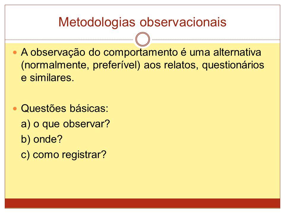 Metodologias observacionais
