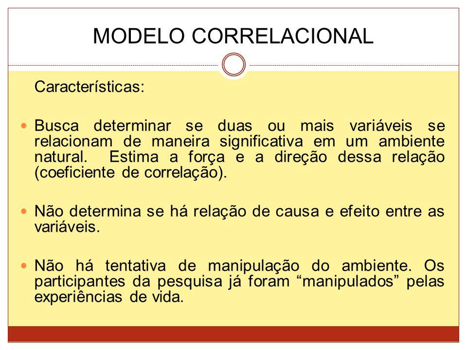 MODELO CORRELACIONAL Características: