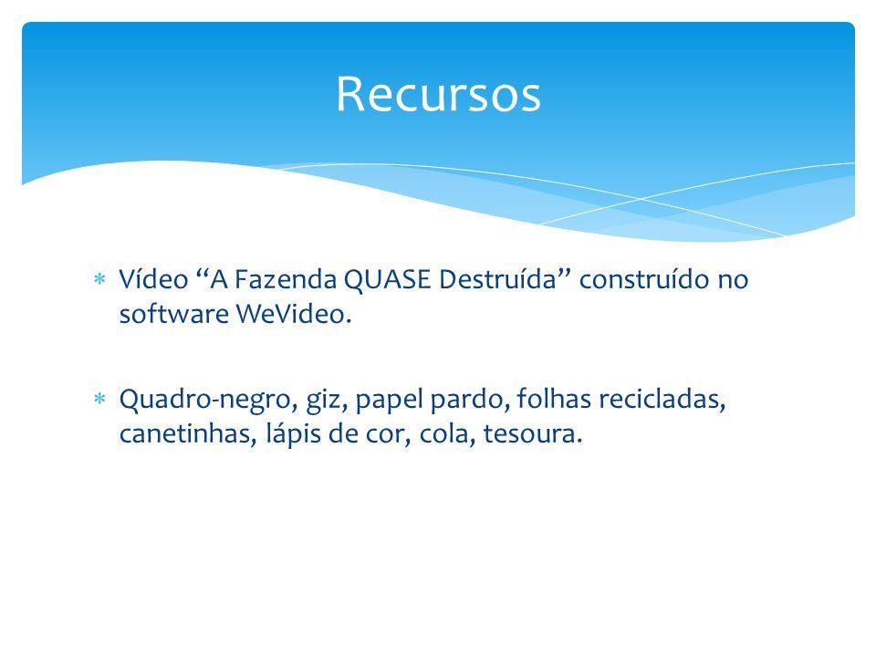 Recursos Vídeo A Fazenda QUASE Destruída construído no software WeVideo.