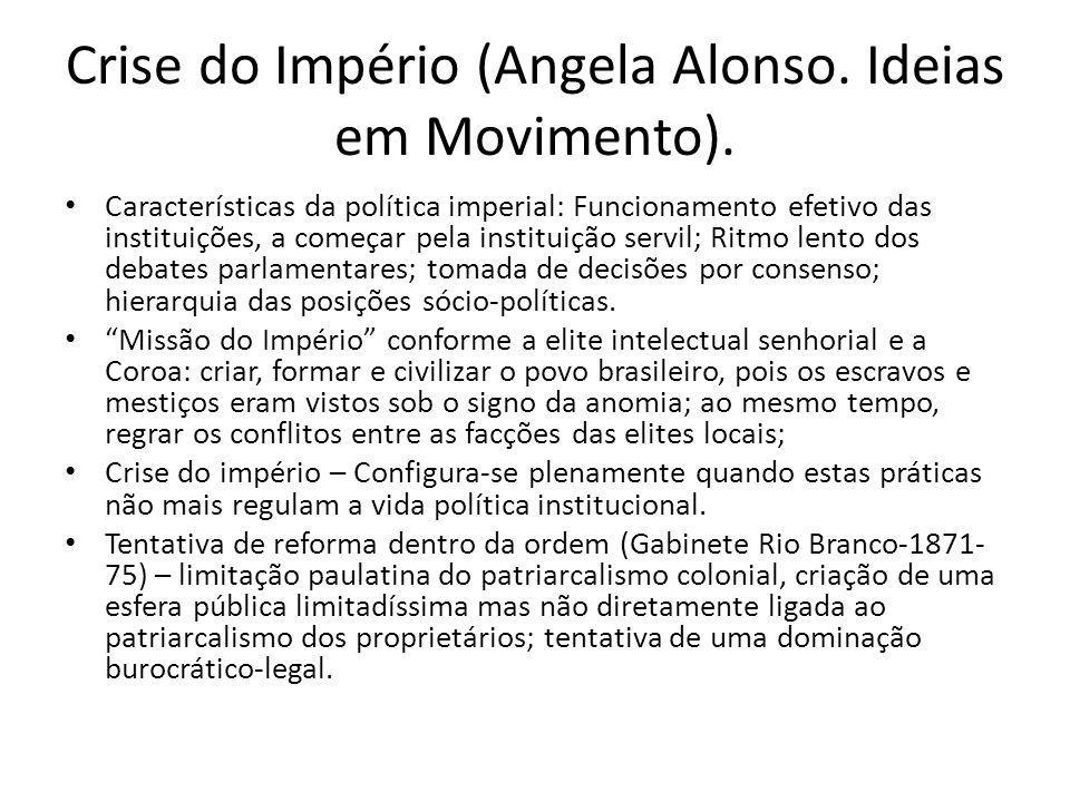 Crise do Império (Angela Alonso. Ideias em Movimento).