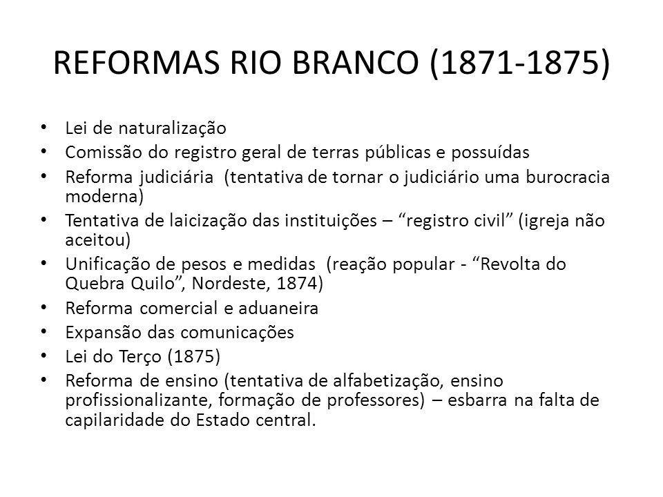 REFORMAS RIO BRANCO (1871-1875)
