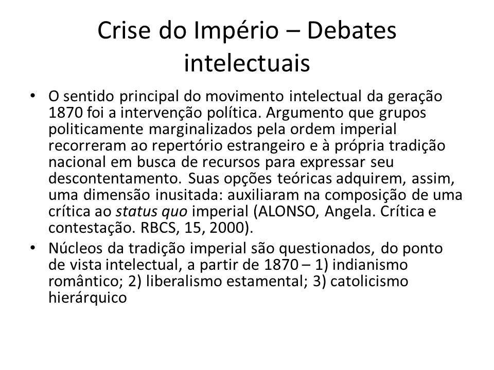 Crise do Império – Debates intelectuais