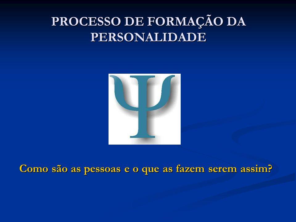 PROCESSO DE FORMAÇÃO DA PERSONALIDADE