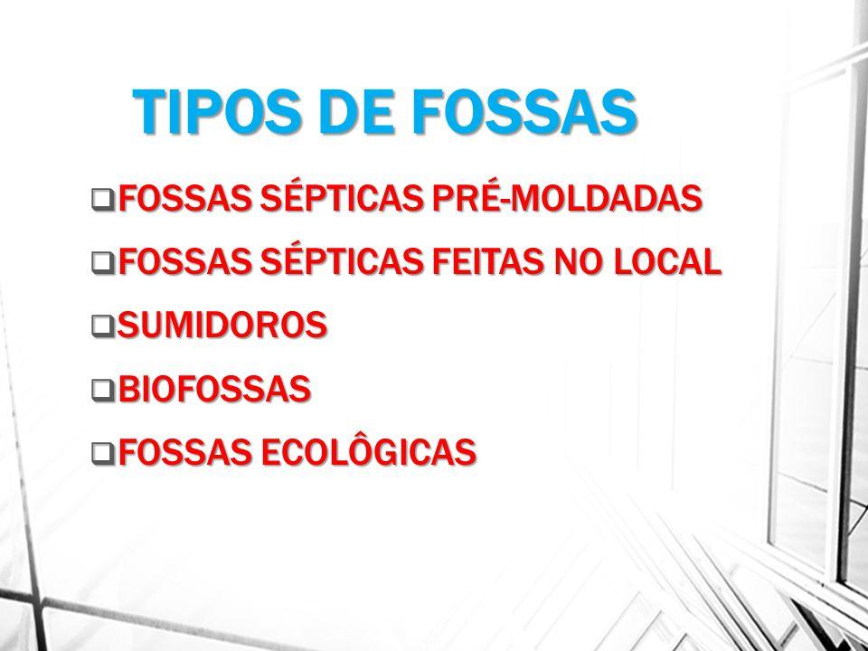 TIPOS DE FOSSAS FOSSAS SÉPTICAS PRÉ-MOLDADAS
