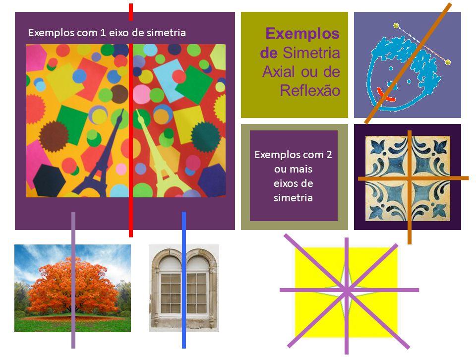 Exemplos com 1 eixo de simetria