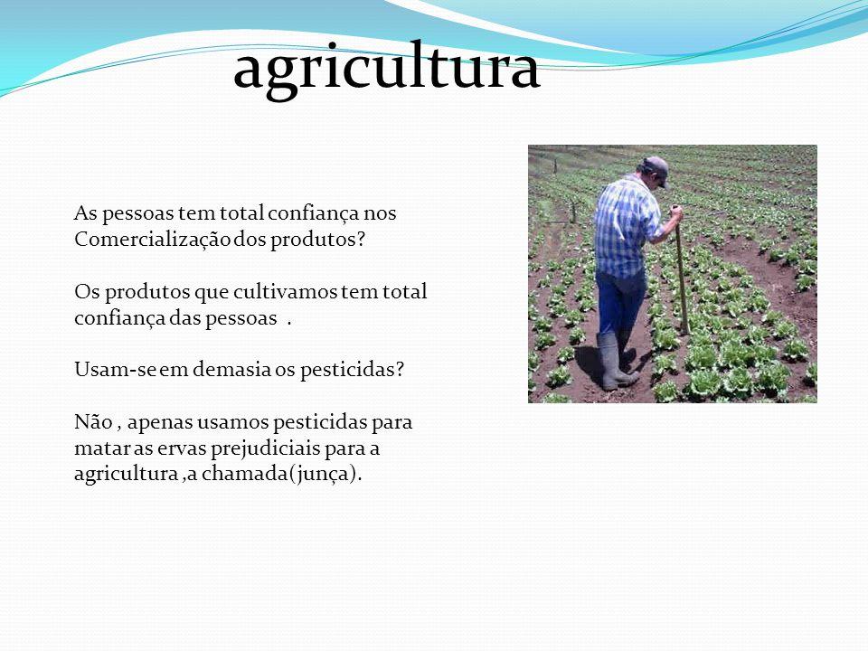 agricultura As pessoas tem total confiança nos
