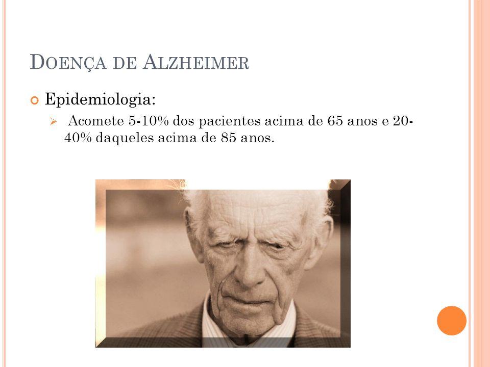 Doença de Alzheimer Epidemiologia: