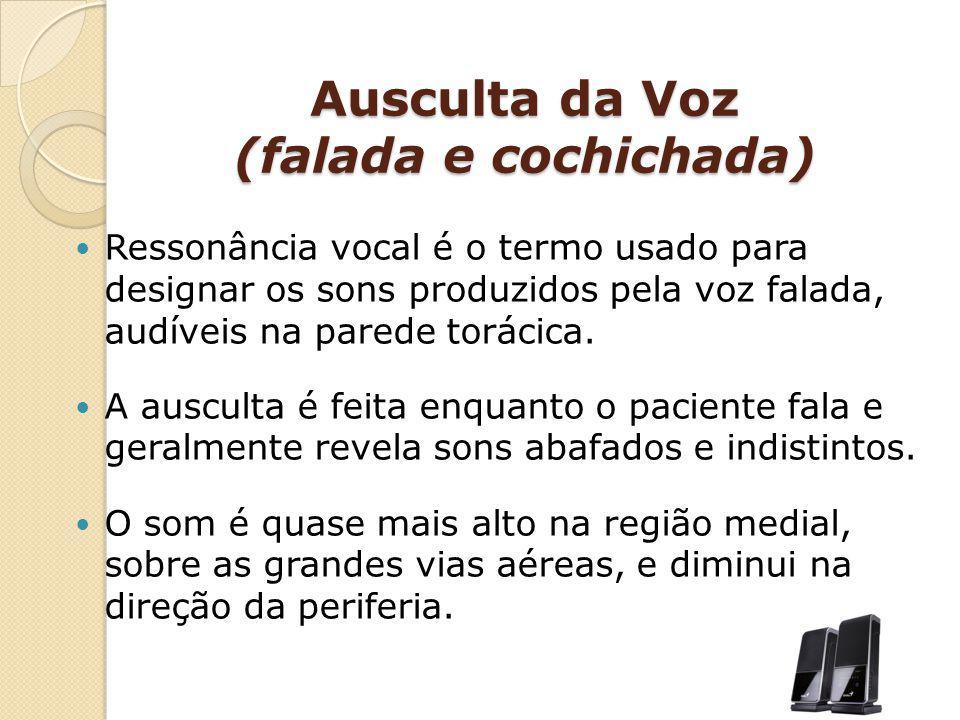 Ausculta da Voz (falada e cochichada)