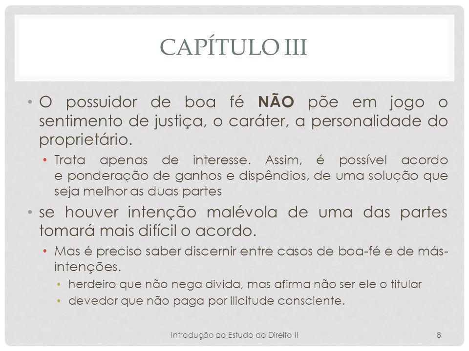 Introdução ao Estudo do Direito II