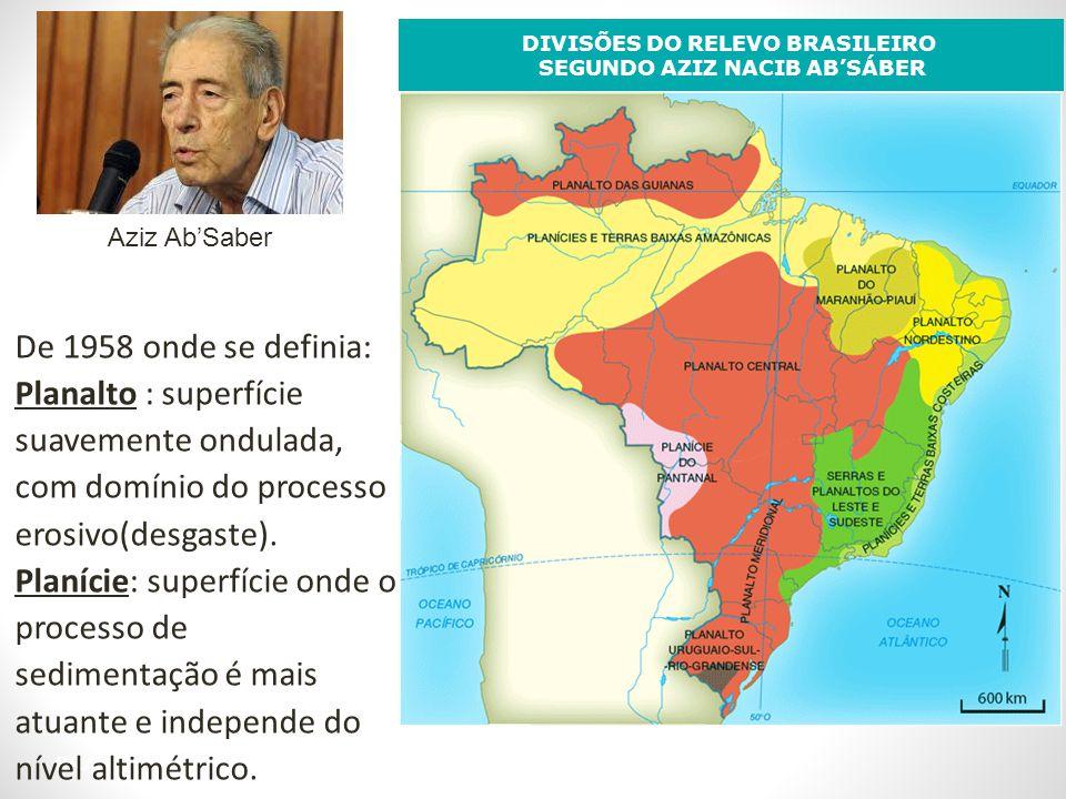 DIVISÕES DO RELEVO BRASILEIRO SEGUNDO AZIZ NACIB AB'SÁBER