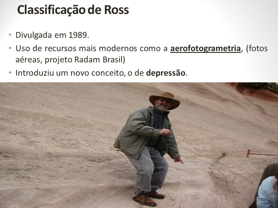 Classificação de Ross Divulgada em 1989.