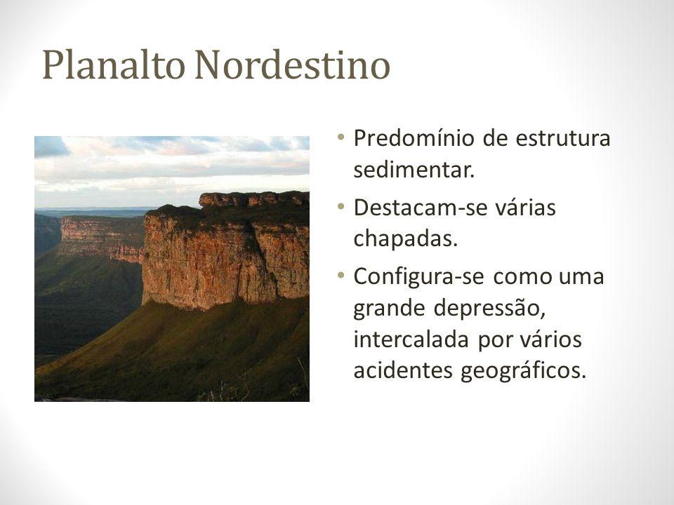Planalto Nordestino Predomínio de estrutura sedimentar.