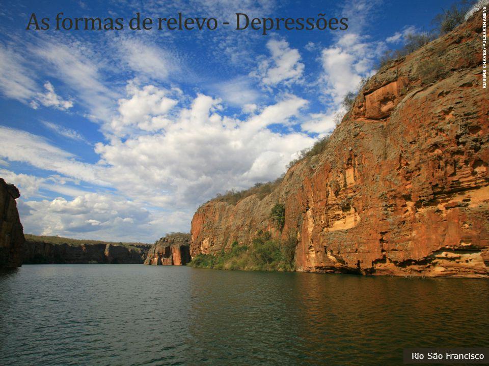 As formas de relevo - Depressões