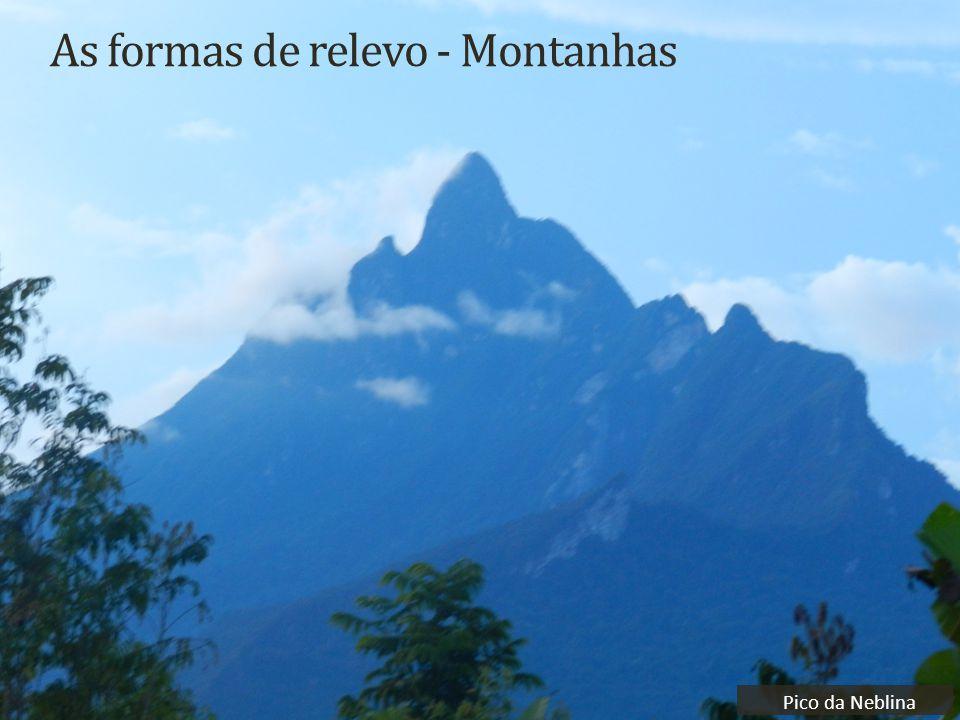 As formas de relevo - Montanhas