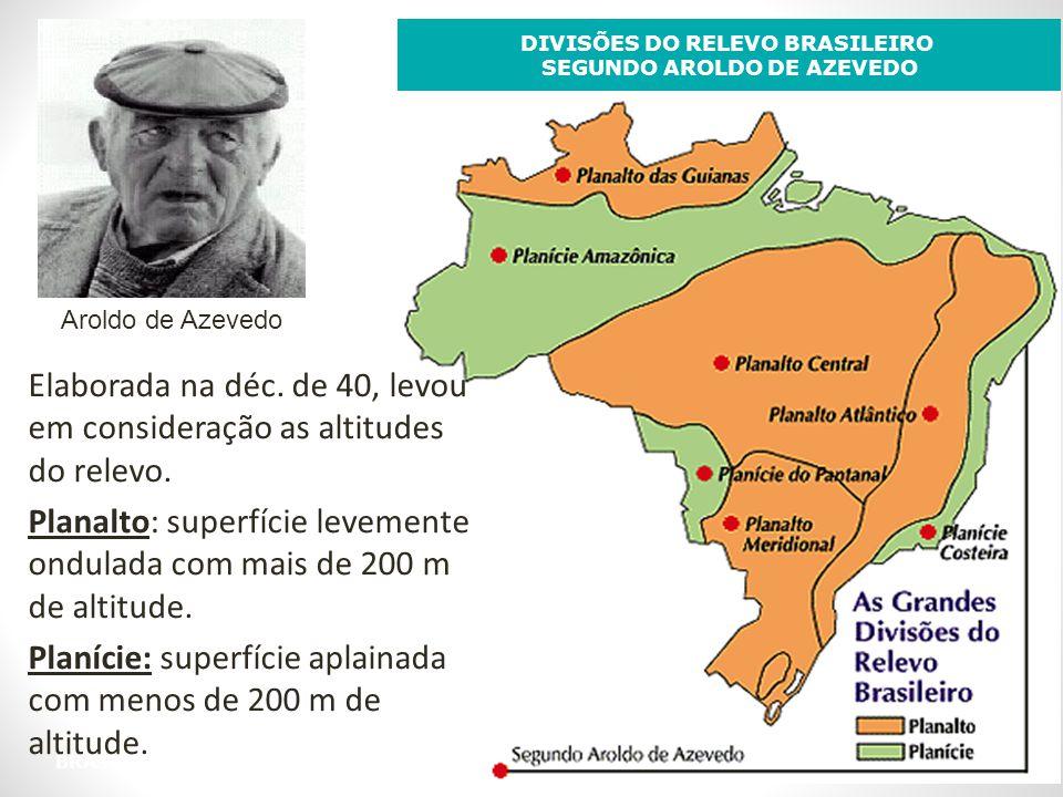 DIVISÕES DO RELEVO BRASILEIRO SEGUNDO AROLDO DE AZEVEDO