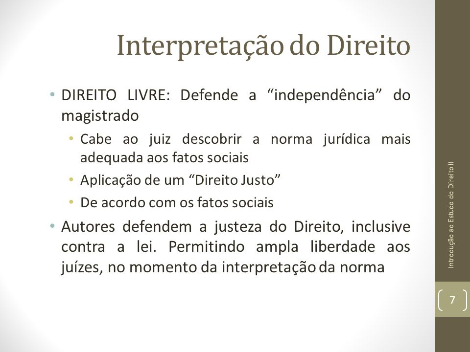 Interpretação do Direito