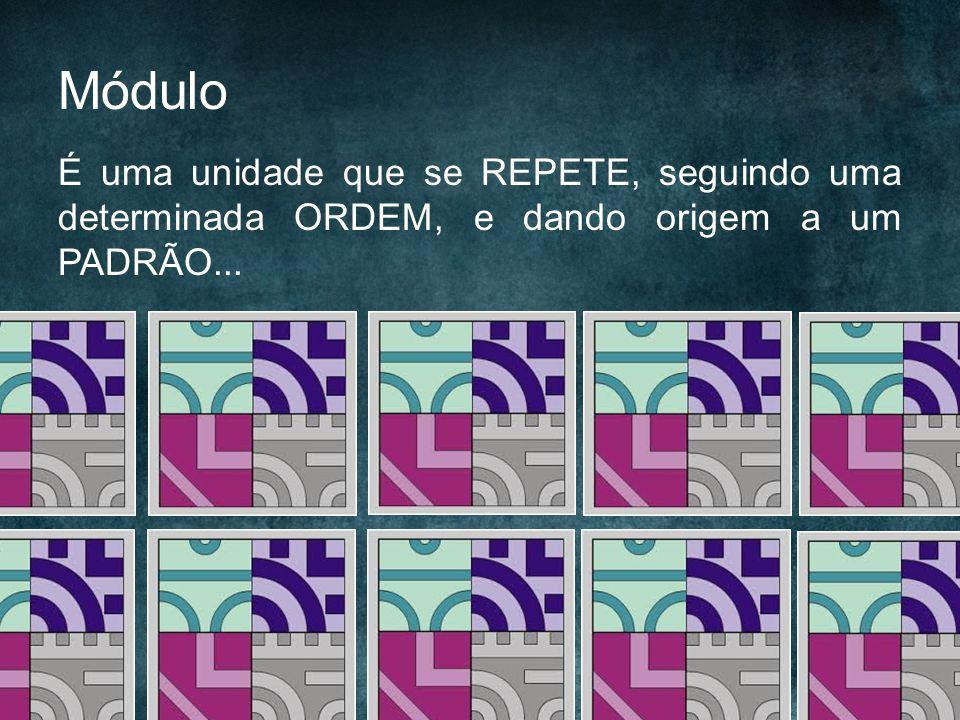Módulo É uma unidade que se REPETE, seguindo uma determinada ORDEM, e dando origem a um PADRÃO...