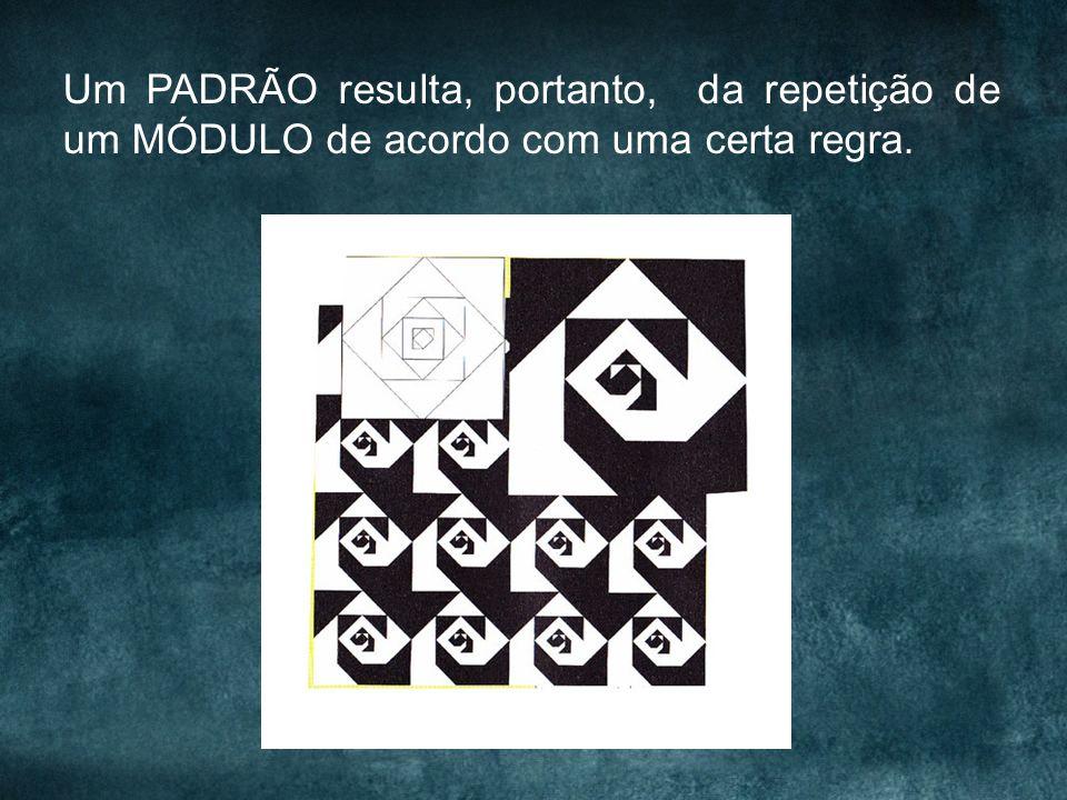 Um PADRÃO resulta, portanto, da repetição de um MÓDULO de acordo com uma certa regra.