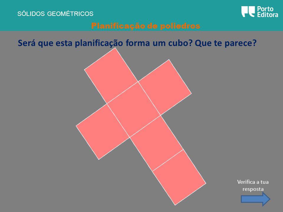 Será que esta planificação forma um cubo Que te parece