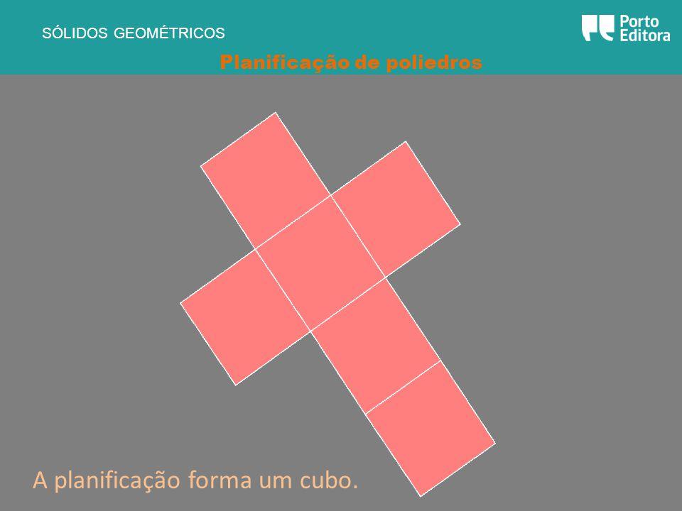 A planificação forma um cubo.