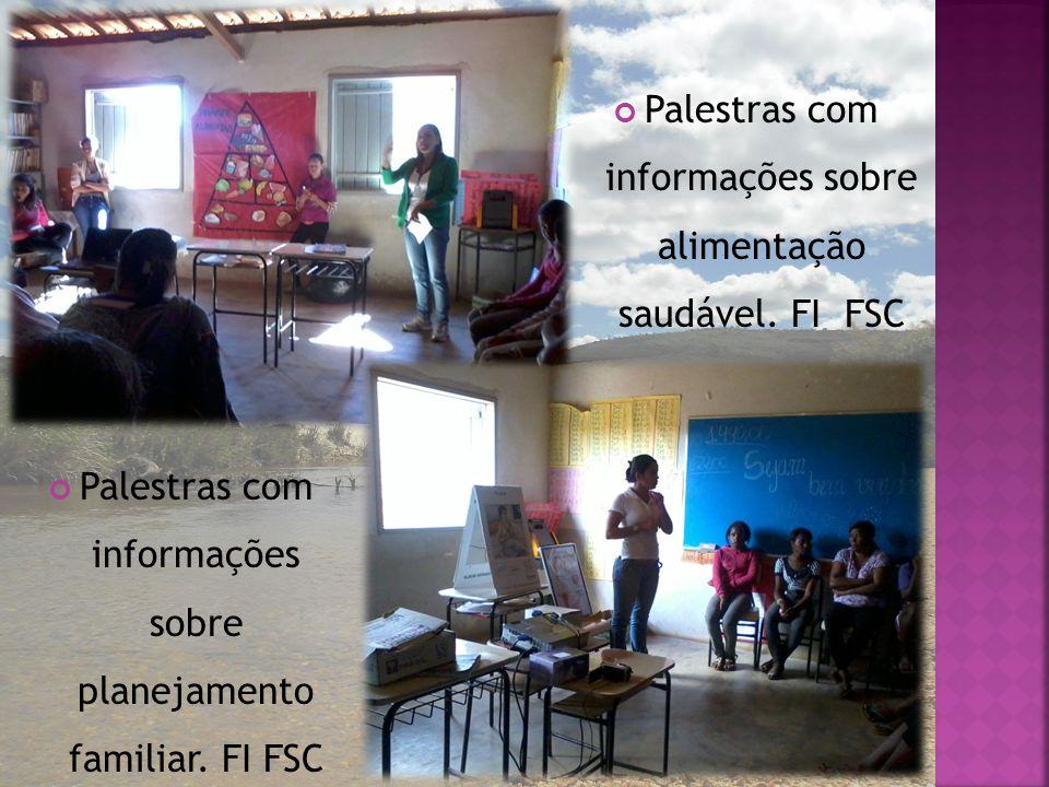 Palestras com informações sobre alimentação saudável. FI FSC