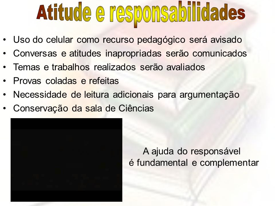 Atitude e responsabilidades