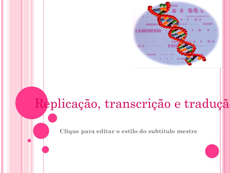 Replicação, transcrição e tradução