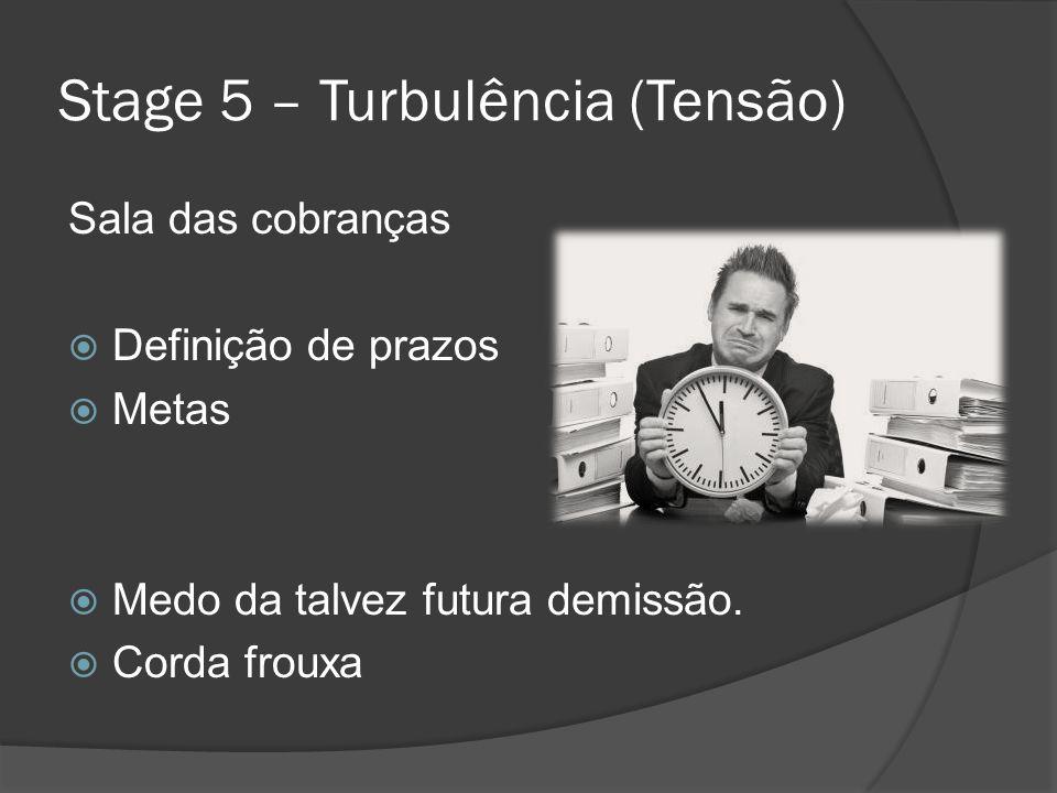 Stage 5 – Turbulência (Tensão)