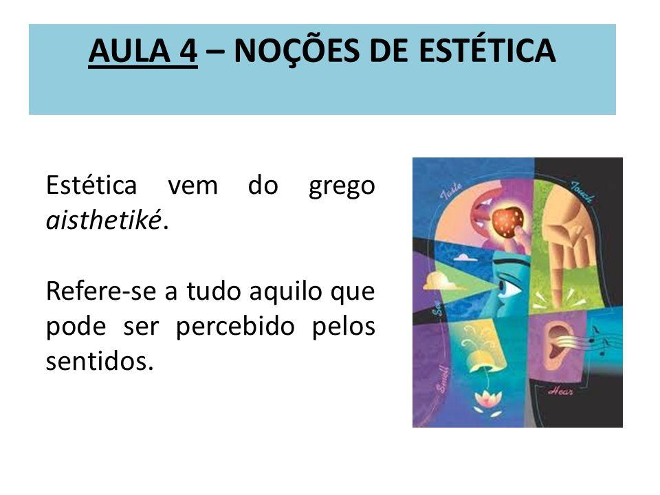 AULA 4 – NOÇÕES DE ESTÉTICA