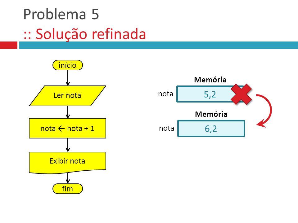 Problema 5 :: Solução refinada