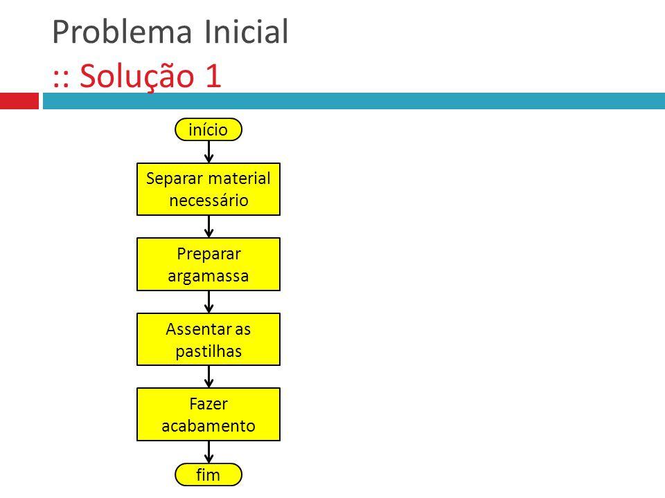 Problema Inicial :: Solução 1