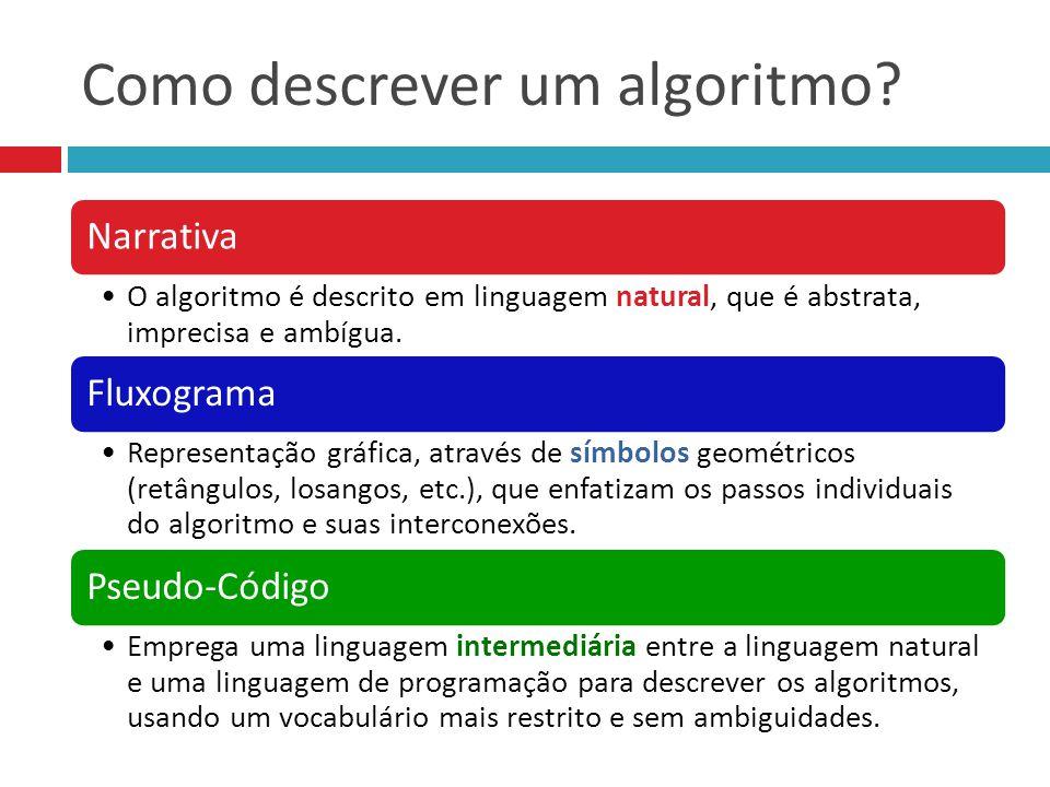 Como descrever um algoritmo