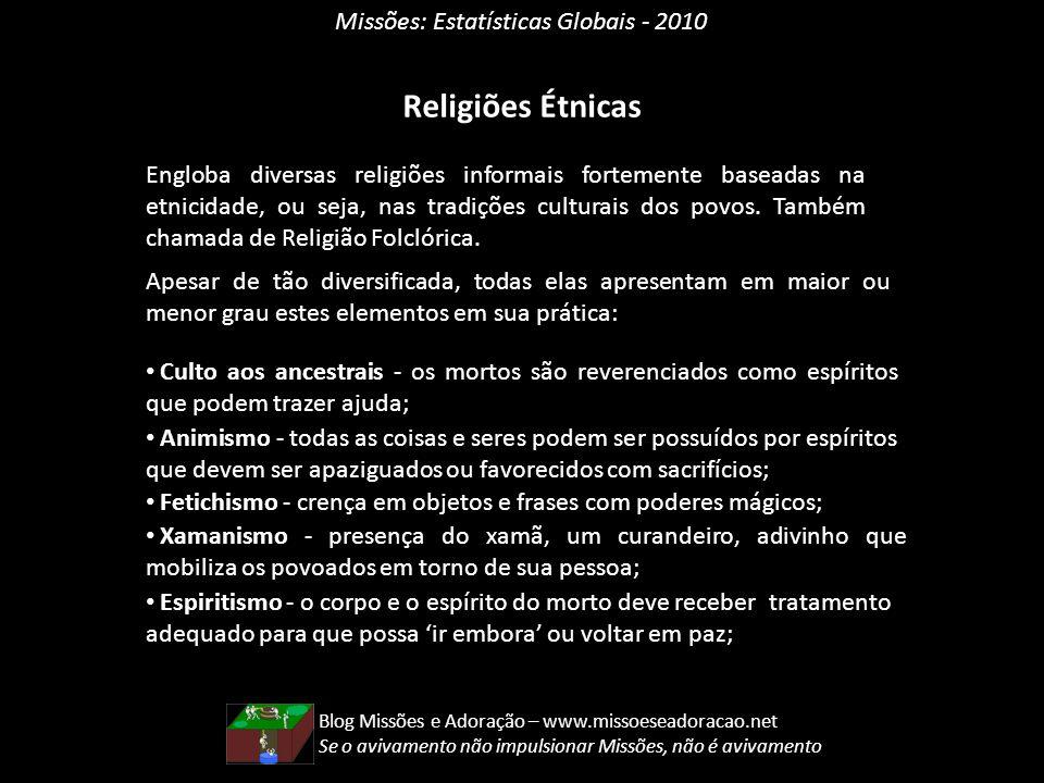 Religiões Étnicas Missões: Estatísticas Globais - 2010